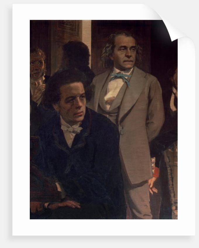 Anton Grigoryevich Rubinstein and Alexander Nikolayevich Serov by Ilya Efimovich Repin