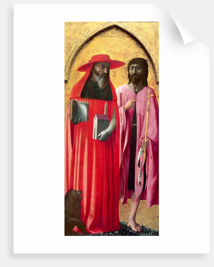 St. Jerome and St. John the Baptist by T. & Masolino