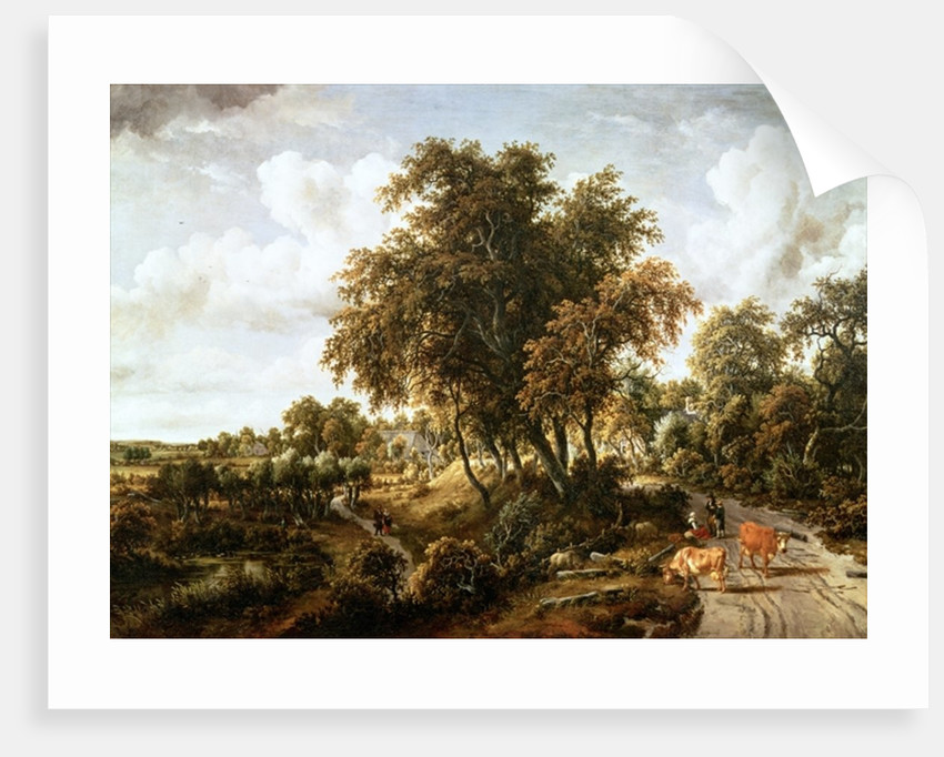 Road on the Dyke by Meindert Hobbema