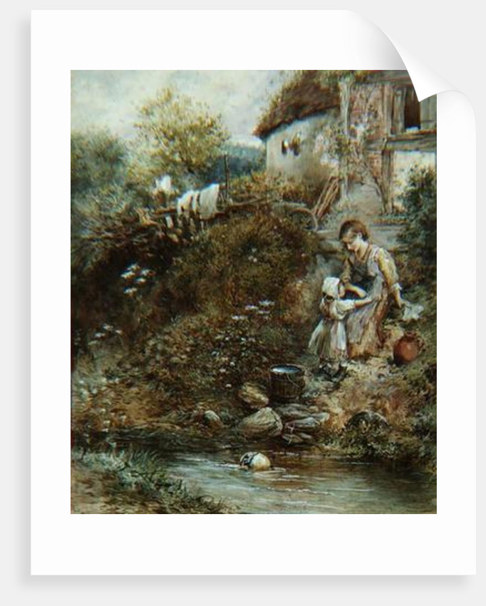 The Washing Day by Myles Birket Foster