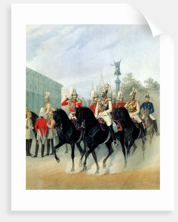 Emperor Nicholas I and Grand Duke Alexander in St. Petersburg by Karl Karlovich Piratsky