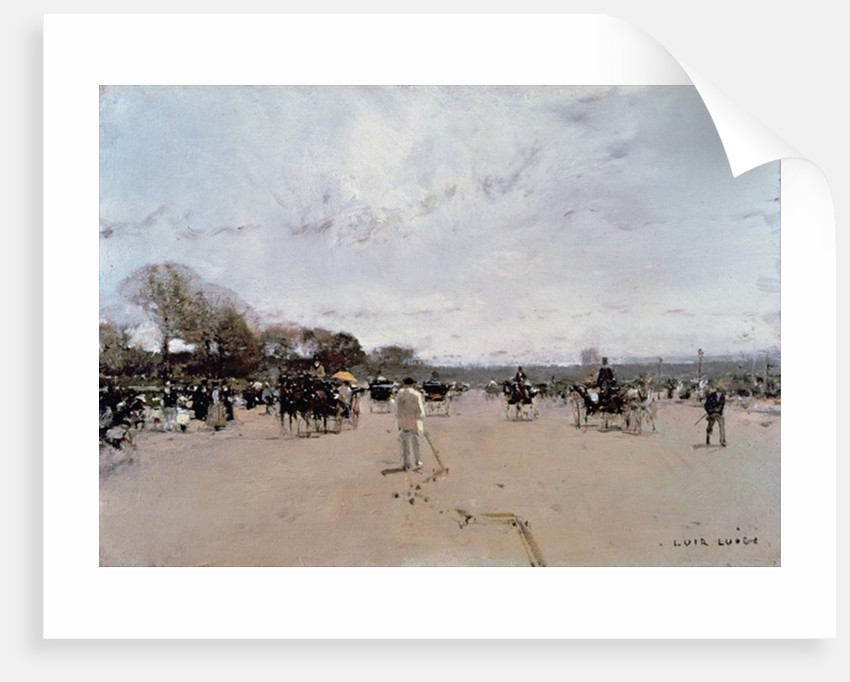 Carriages on the Champs Elysees by Luigi Loir