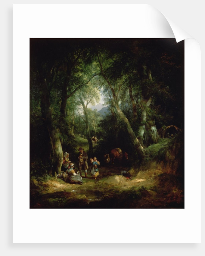 Gypsy Encampment in the New Forest by William Snr. Shayer