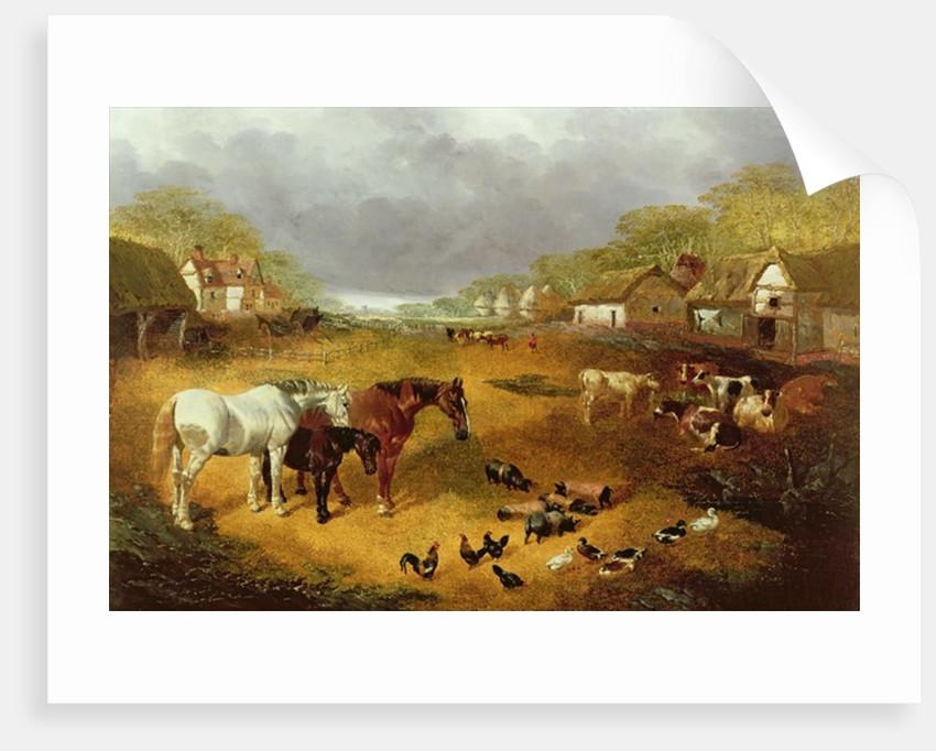 A farmyard in Spring by John Frederick Herring Snr