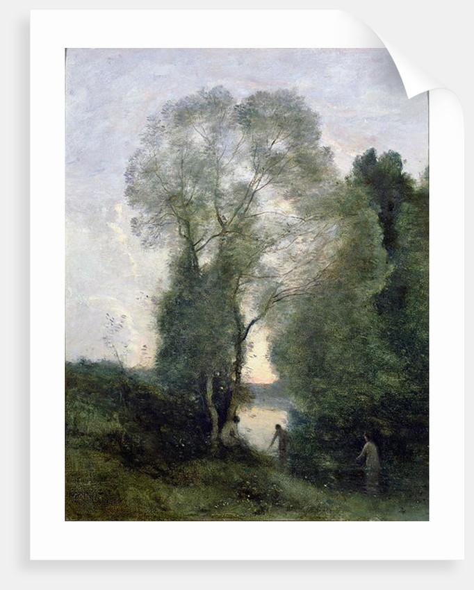 Les Baigneuses by Jean Baptiste Camille Corot
