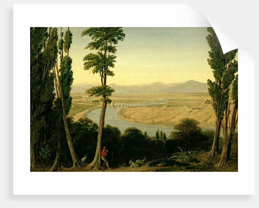 A View of the Tiber and the Roman Campagna from Monte Mario by William Linton