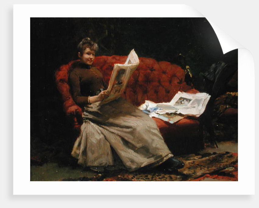 Lady Reading by Ernest Sigismund Witkamp