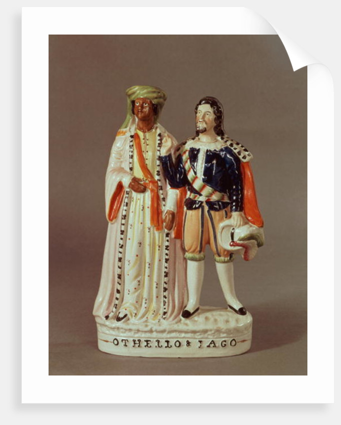 Staffordshire figure of Othello and Iago by English School