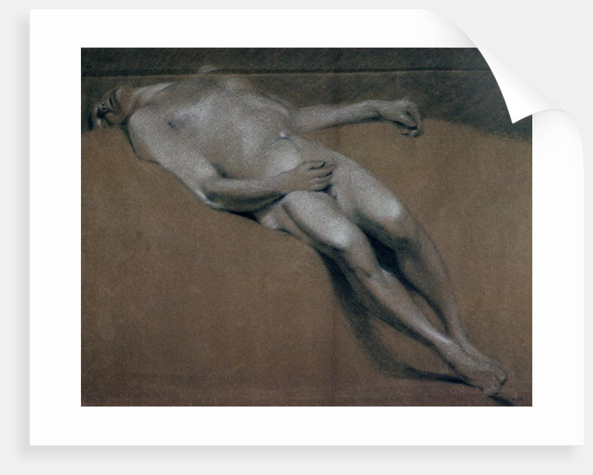 Study of a recumbent male nude by John Constable