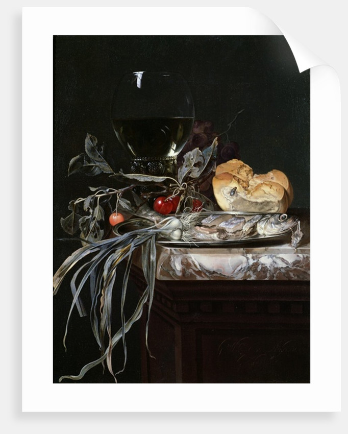 Still Life with Fish Platter by Willem van Aelst