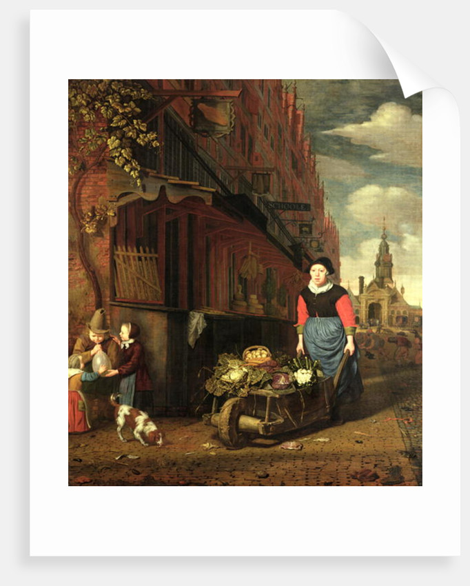 Dutch Genre Scene by Michiel van Musscher