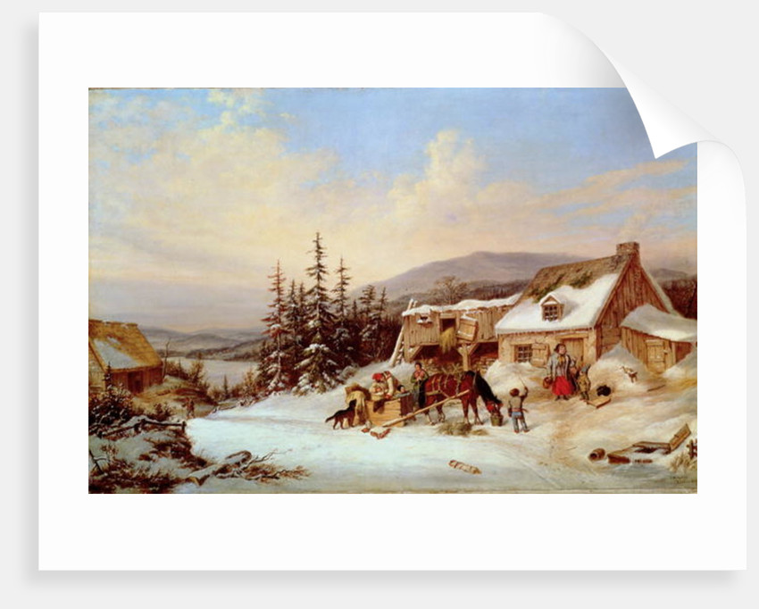 Quebec by Cornelius Krieghoff