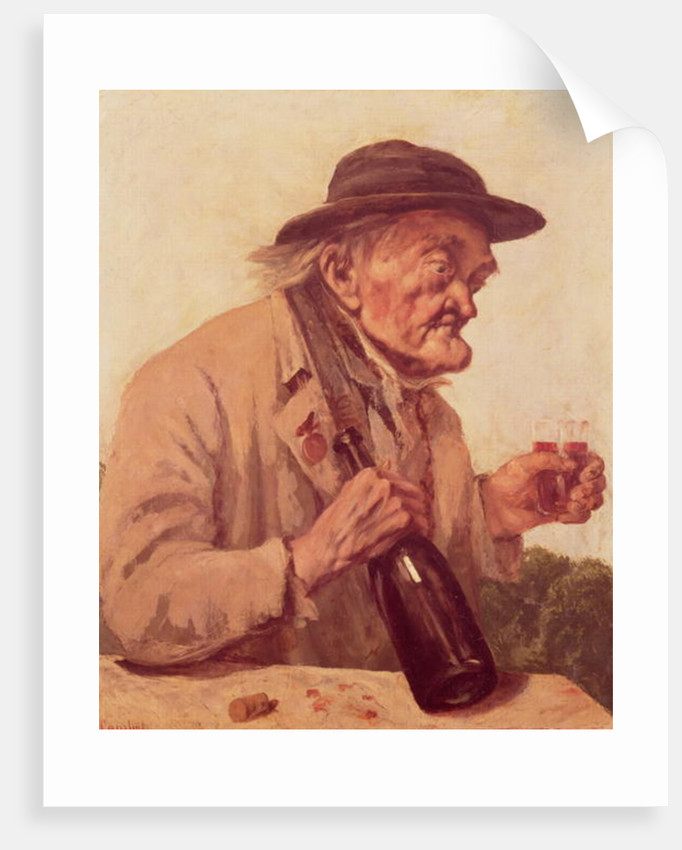 Old Man with a glass of wine by Gustave Courbet