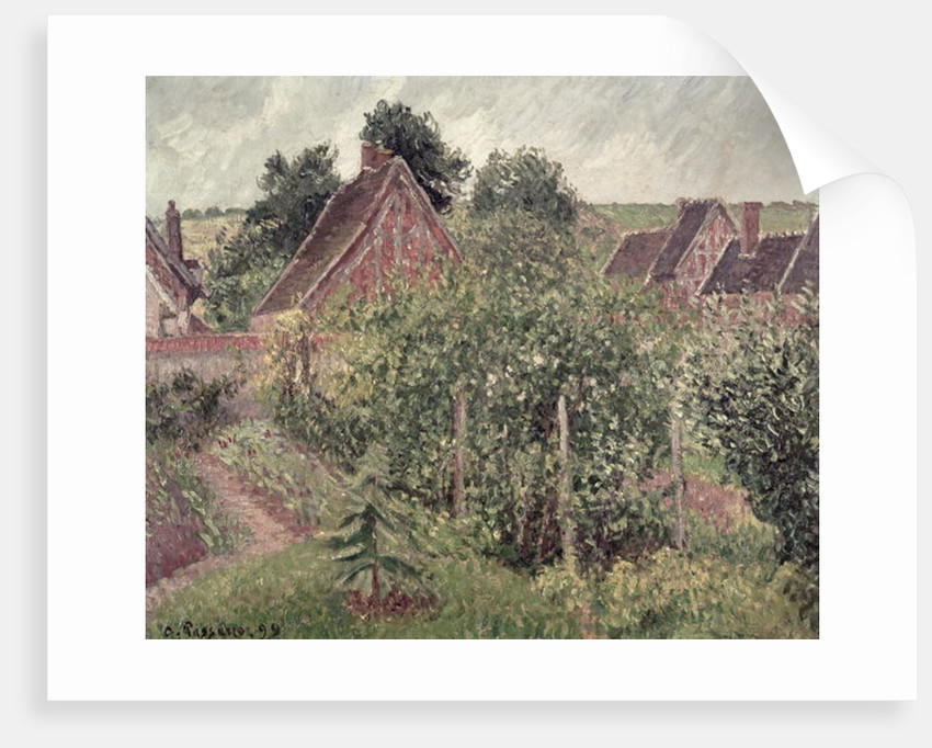 Landscape with Cottage Roofs by Camille Pissarro
