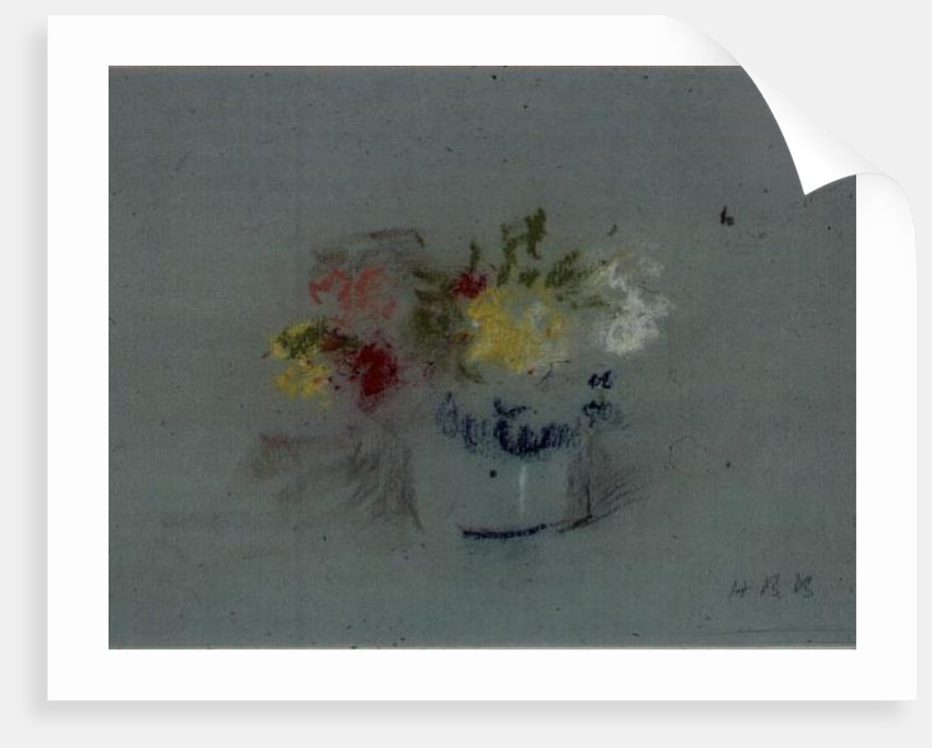 Flowers in a Blue and White Jar by Hercules Brabazon Brabazon