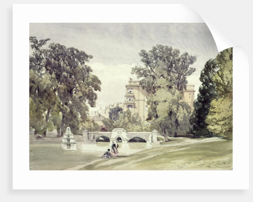 West End of the Serpentine, Kensington Gardens by William Callow