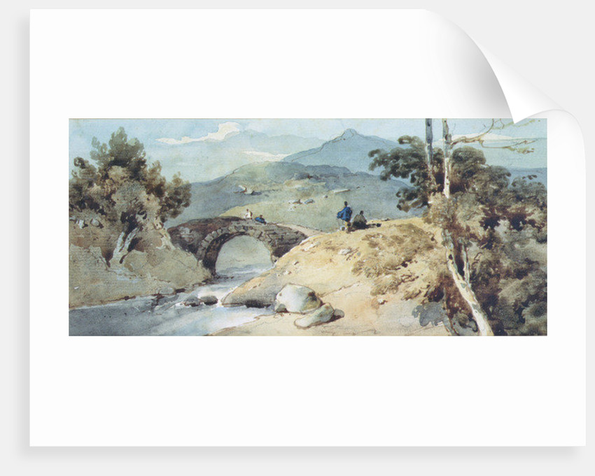 Chinese Landscape with Bridge by George Chinnery