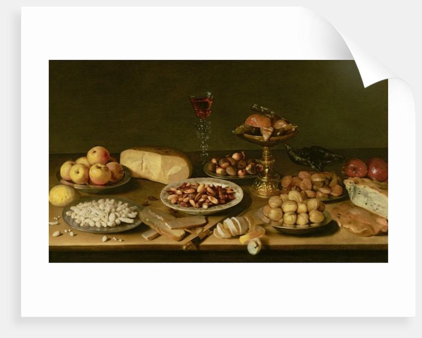 Banquet still life by Jacob Foppens van Es