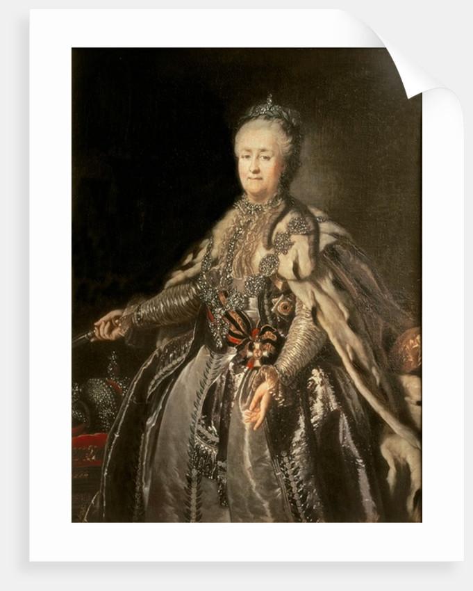Catherine the Great by Johann Baptist I Lampi