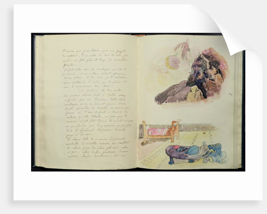 Pages from 'Noa Noa' by Paul Gauguin