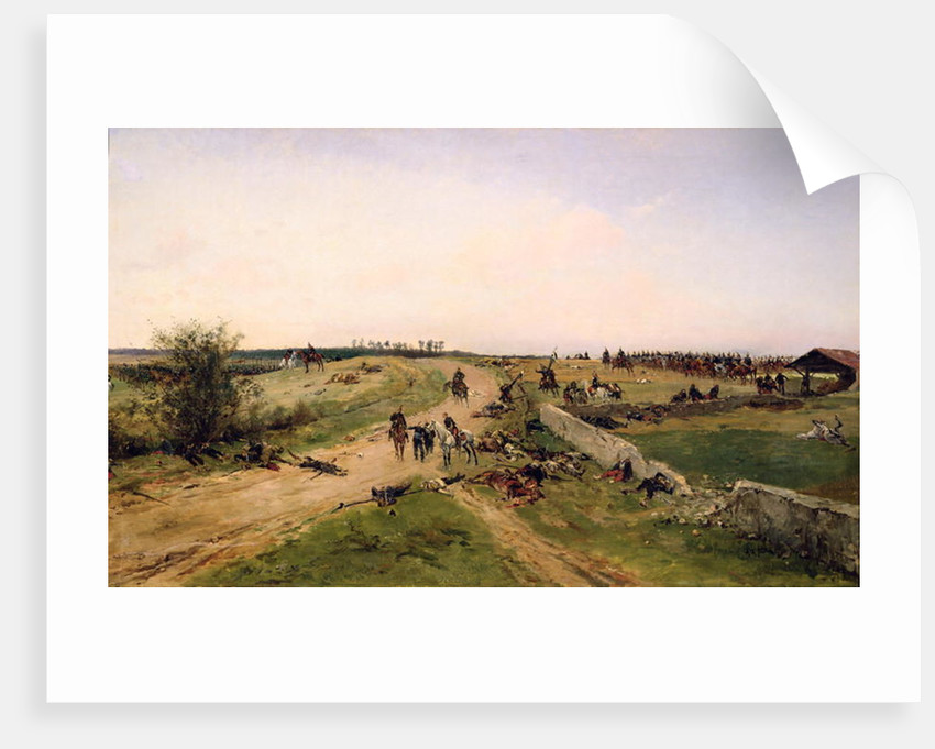 Scene from the Franco-Prussian War by Alphonse Marie de Neuville