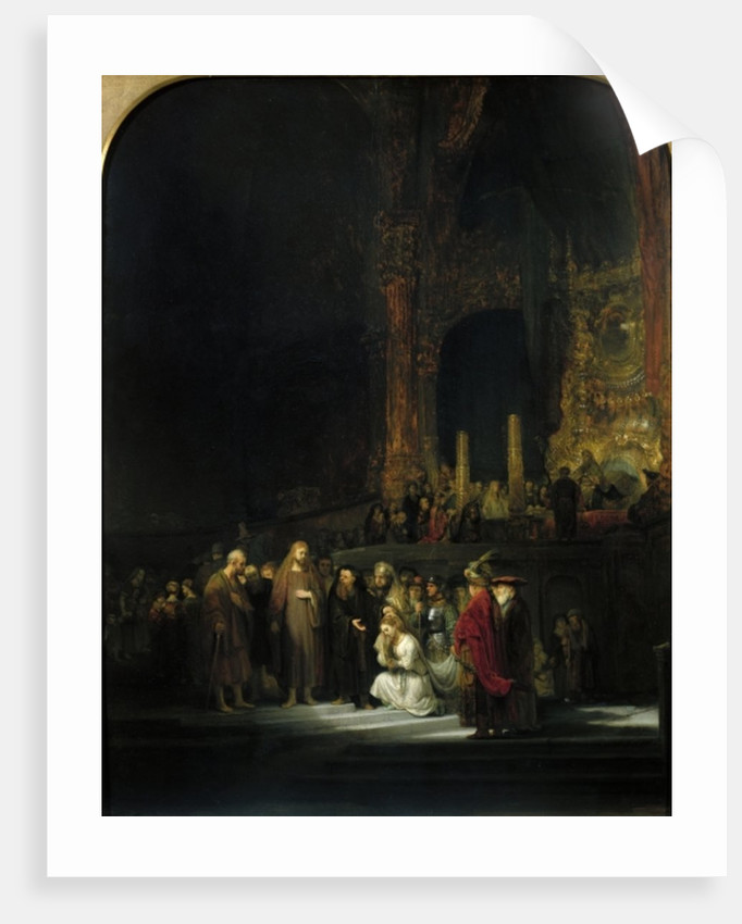 The Woman taken in Adultery by Rembrandt Harmensz. van Rijn