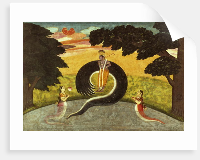 The submission of Kaliya, Basohli, Pahari School by Pahari School
