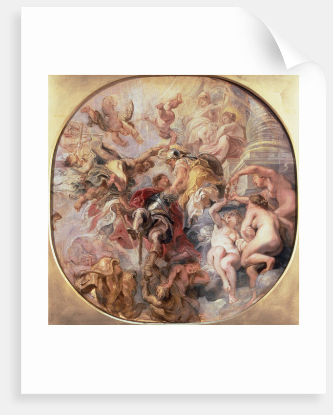Minerva and Mercury Conduct the Duke of Buckingham to the Temple of Virtue by Peter Paul Rubens