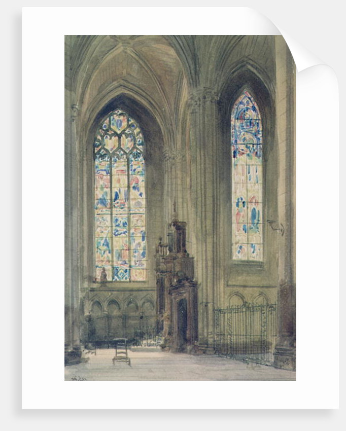 Chapel in the South Transept, Rouen Cathedral by Augustus Welby Pugin
