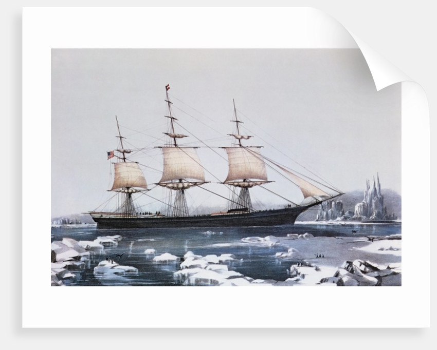 "Clipper Ship ""Red Jacket"" in the ice off Cape Horn on her passage from Australia to Liverpool by American School"