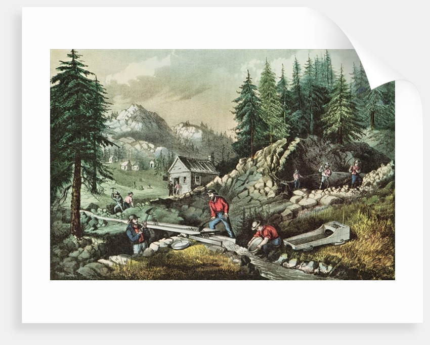 Goldmining in California by N. and Ives
