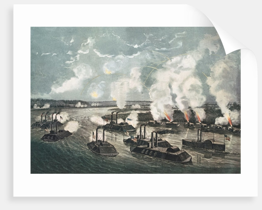 Bombardment and Capture of Island No.10 on the Mississippi River by N. and Ives