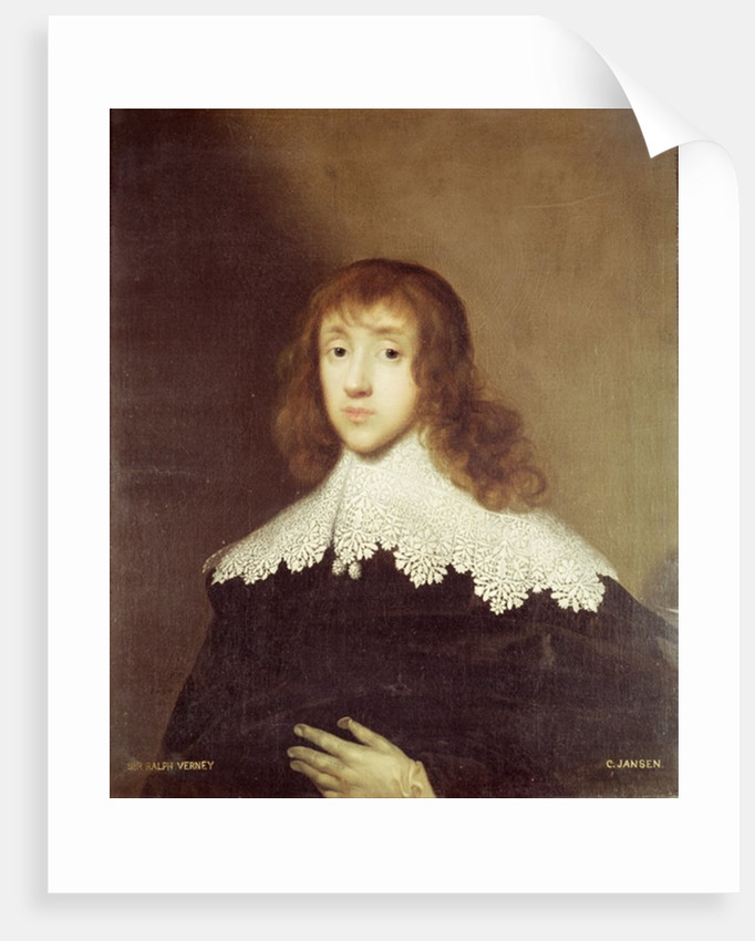 Portrait of Sir Ralph Verney by Cornelius Jansen
