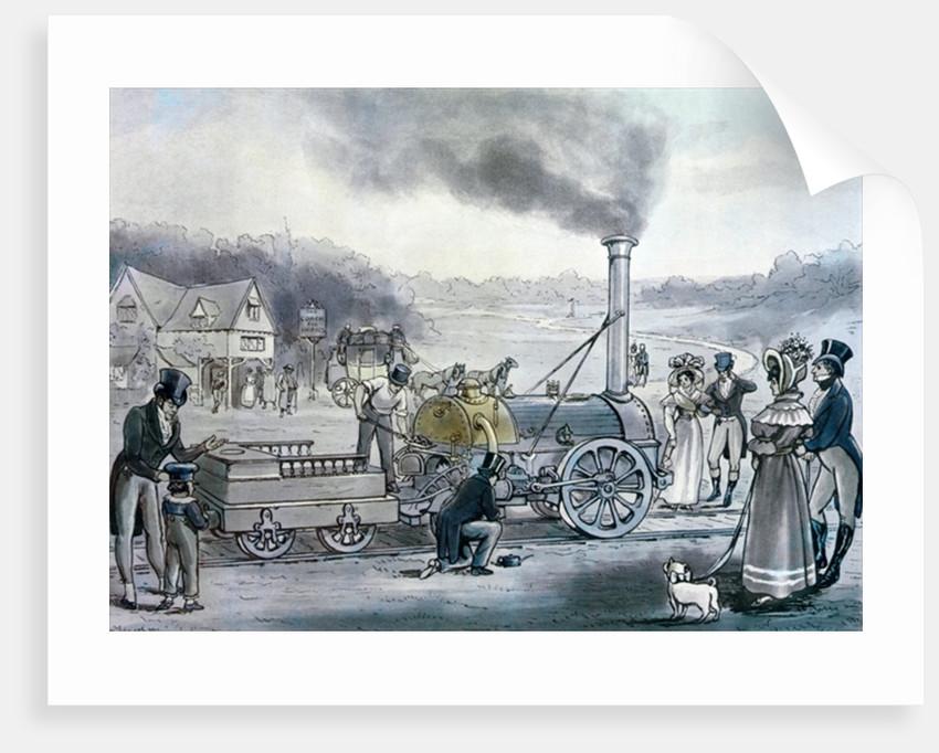 Stephenson's 'Northumbrian' by English School