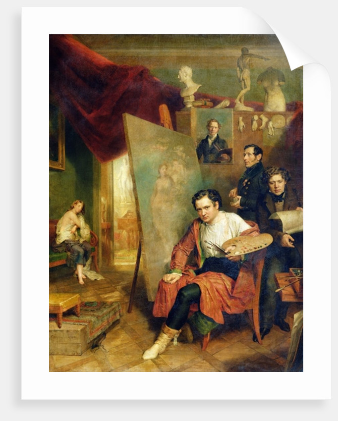 In the studio of the painter by Wilhelm August Golicke