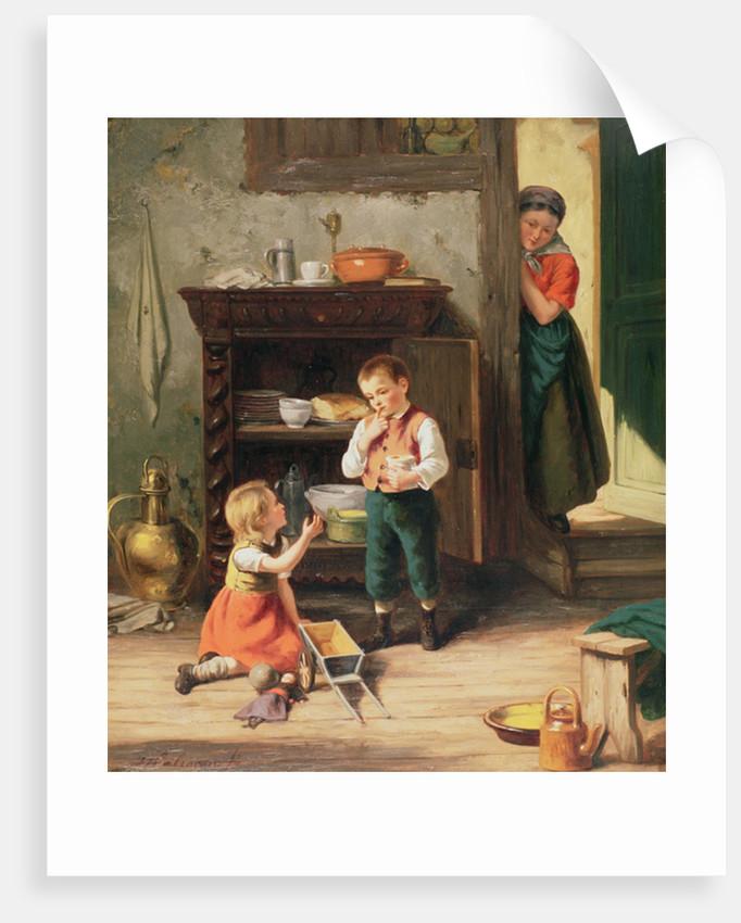 Children playing by Jan Walraven