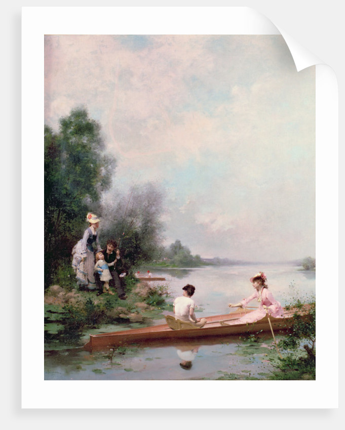 Boating on the River by Jules Frederic Ballavoine
