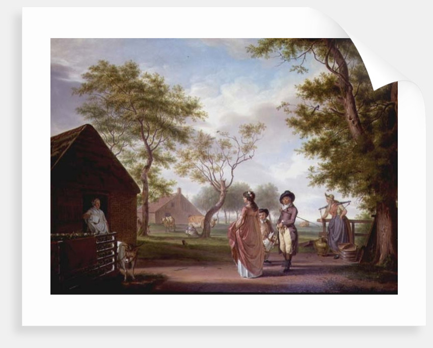 Country Landscape with Figures by Johan Prey