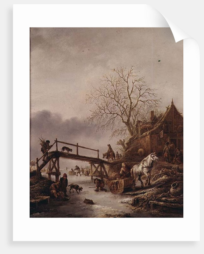A Winter Scene by Isack van Ostade