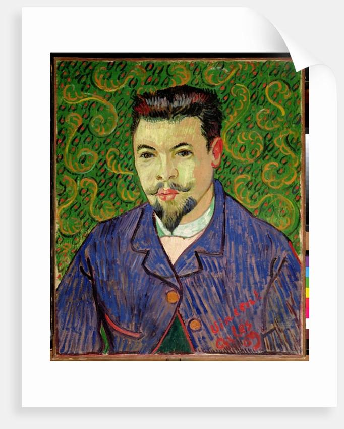 Portrait of Dr Rey by Vincent Van Gogh Giclee Fine Art Print Repro on Canvas
