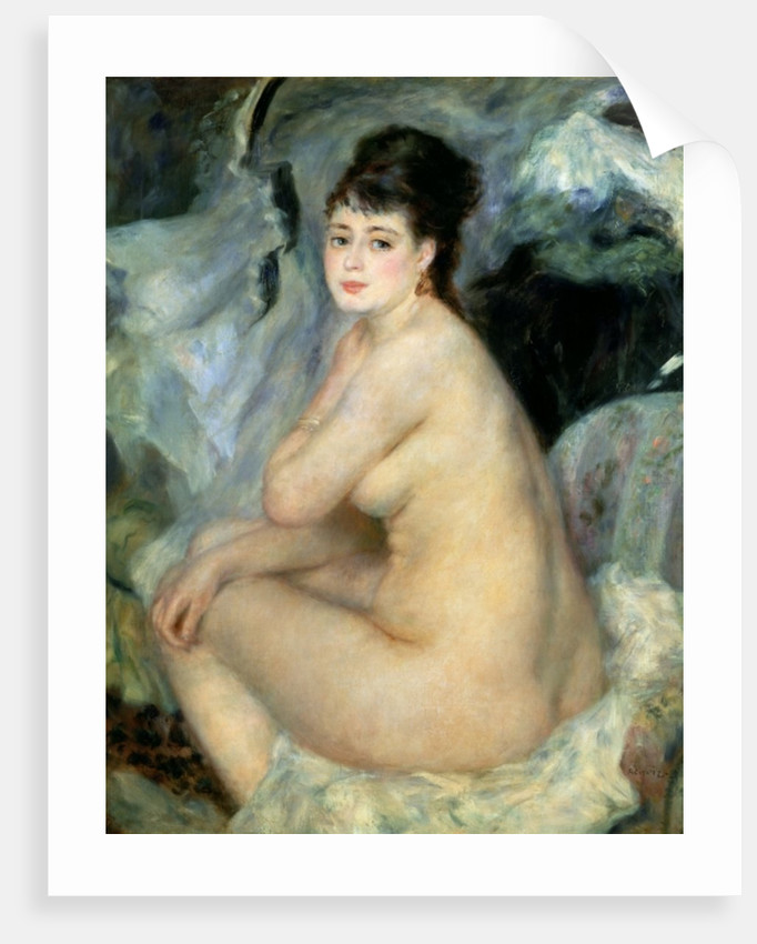 Nude, or Nude Seated on a Sofa by Pierre Auguste Renoir