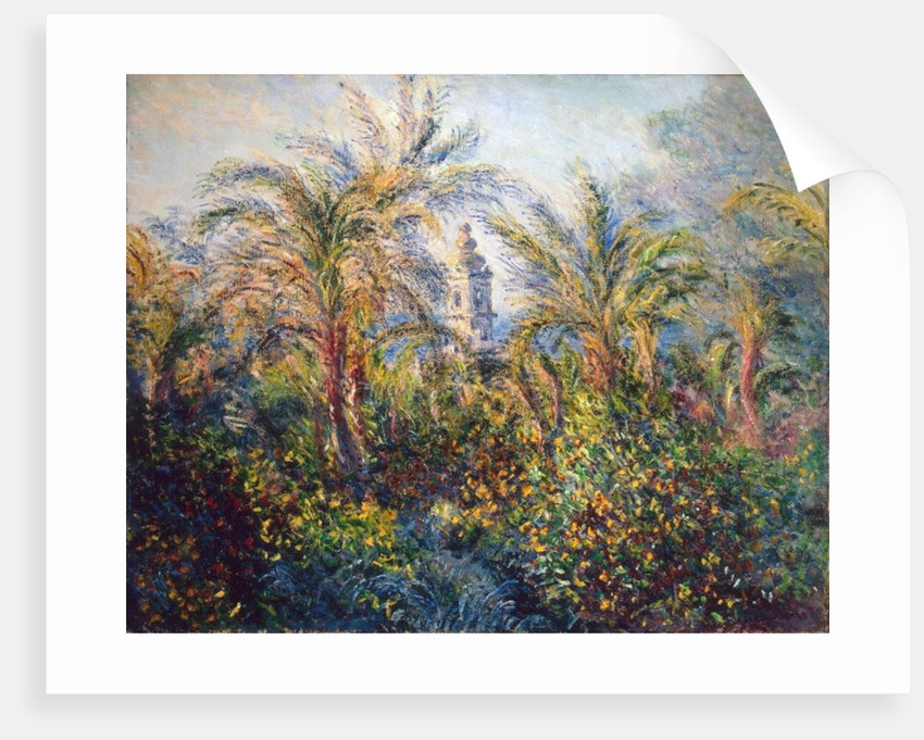 Garden in Bordighera, Impression of Morning by Claude Monet
