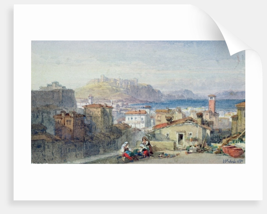 Naples, 19th century; watercolour; by William Leighton Leitch