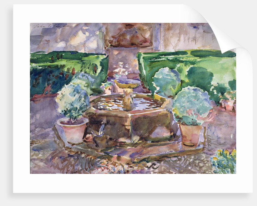 Fountains in the Generalife, Granada by John Singer Sargent