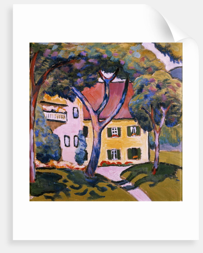 House in a Landscape by August Macke