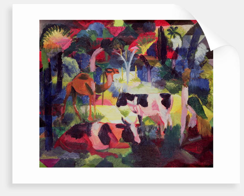 Landscape with Cows and a Camel by August Macke