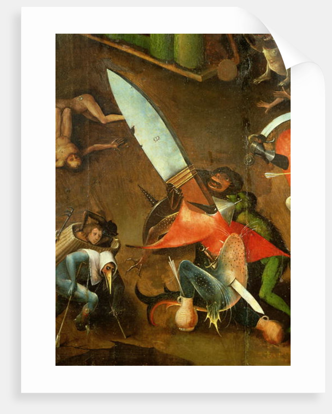 The Last Judgement (Altarpiece): Detail of the Dagger by Hieronymus Bosch