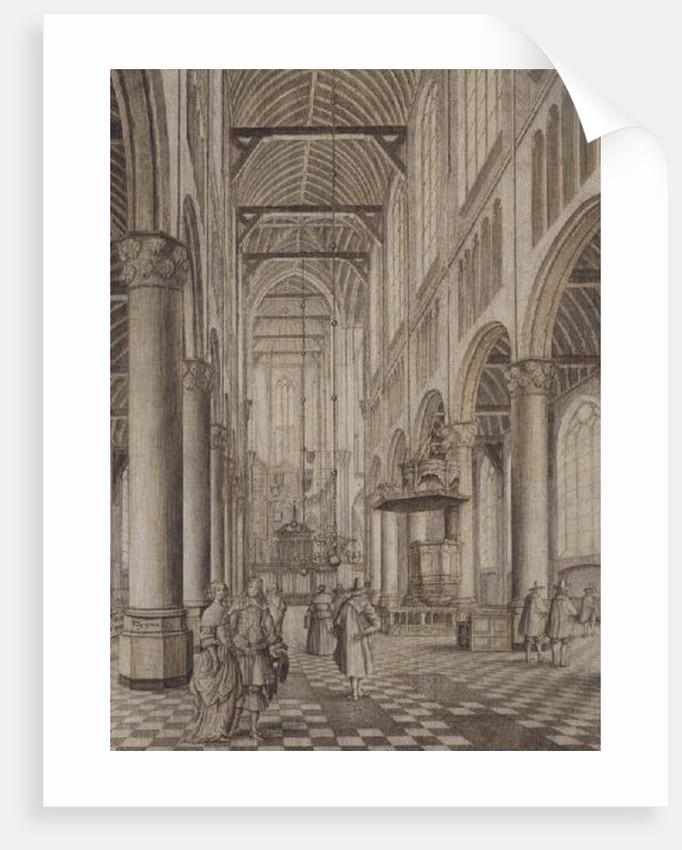 Interior of the New Church, Delft by Johannes Coebermans