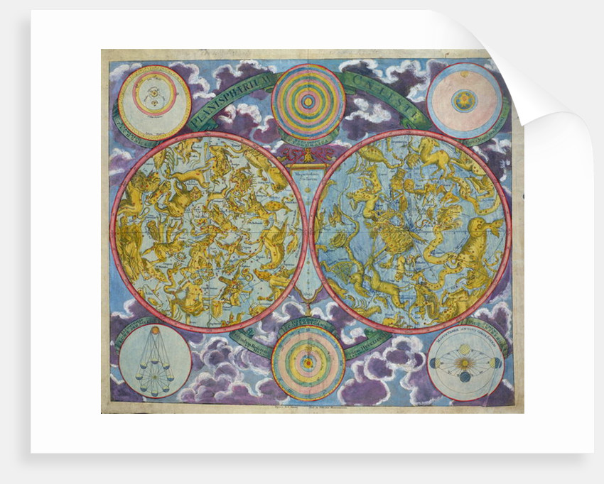 Celestial Map of the Planets by Georg Christoph II Eimmart