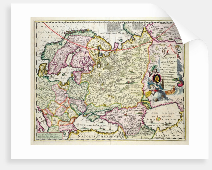 Map Of Asia Minor.Map Of Asia Minor Showing Norway Sweden Denmark Lapland Poland Turkey Russia And The Moscow Region